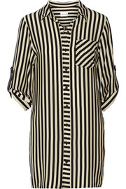 Milly Stretch-crepe de chine shirt dress