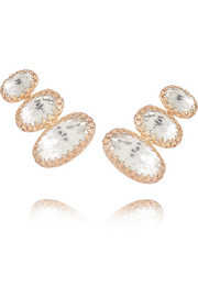 Larkspur & Hawk Tessa rose gold-dipped topaz earrings