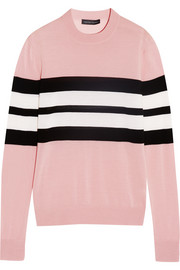 Jonathan Saunders Oban striped merino wool sweater