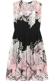 Jonathan Saunders Marlow printed silk-georgette dress