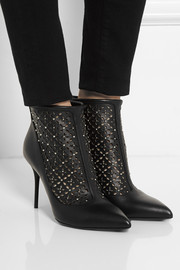 Alexander McQueen Perforated studded leather ankle boots
