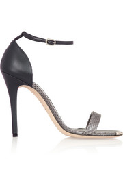Alexander McQueen Python and leather sandals