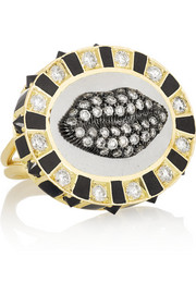 Holly Dyment Glam Madame 18-karat gold, diamond and spinel ring
