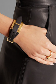 Alexander McQueen Leather and gold-plated bracelet