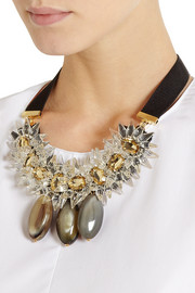 Marni Crystal and horn necklace