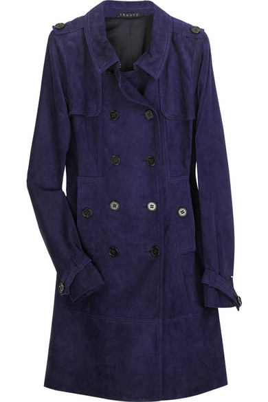 43afdfc4bf Theory | Shalin suede trench coat | NET-A-PORTER.COM