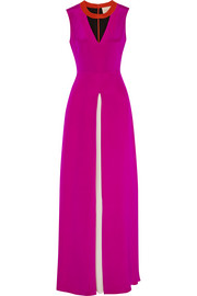 Roksanda Ilincic Layn color-block silk-crepe gown