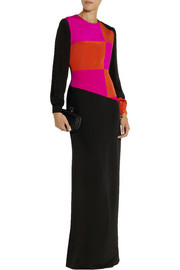 Roksanda Ilincic Jowett color-block silk maxi dress