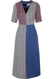 Roksanda Ilincic Layne herringbone tweed midi dress