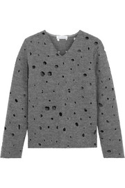 J.W.Anderson Perforated boiled wool sweater