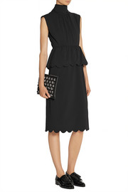 J.W.Anderson Scalloped stretch-crepe peplum dress