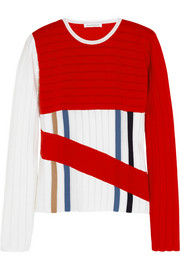 J.W.Anderson Ribbed wool-blend jersey sweater
