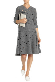 J.W.Anderson Pleated perforated boiled wool skirt