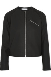 J.W.Anderson Cropped matte-leather jacket