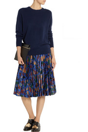 J.W.Anderson Pleated jacquard skirt