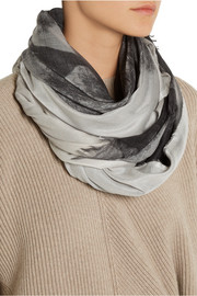 Stella McCartney Hampstead printed modal and silk-blend scarf