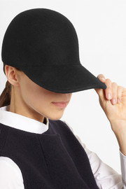 Stella McCartney Wool-felt baseball cap