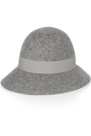 Wide-brim wool-felt hat