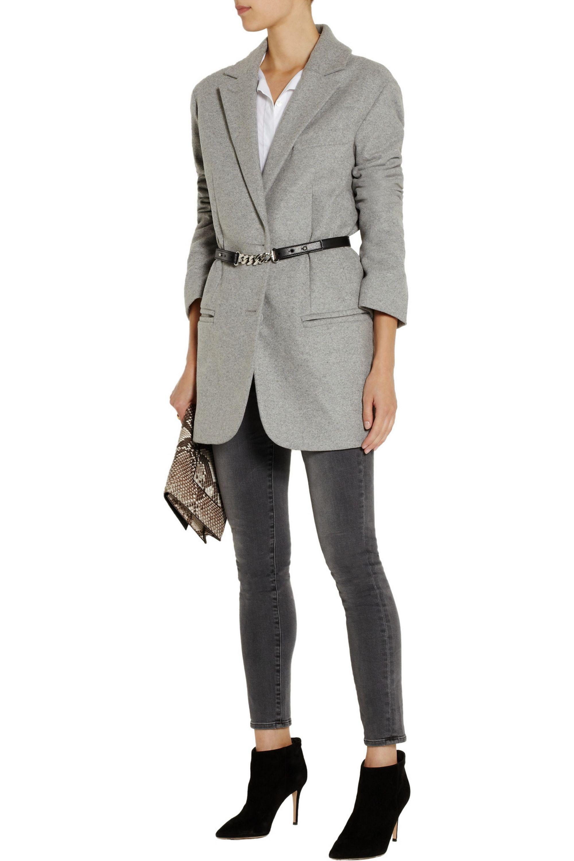 Stella McCartney Embellished faux leather belt