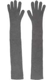 Stella McCartney Ribbed wool gloves