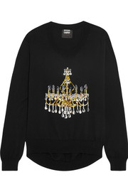 Markus Lupfer Chandelier sequined cotton sweater