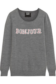 Bonjour Au Revoir sequined merino wool sweater