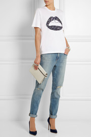 Markus Lupfer Lara sequined cotton T-shirt