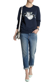 Markus Lupfer Cat Fight cotton-jersey sweatshirt