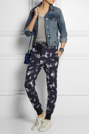 Markus Lupfer Cat Fight cotton-jersey track pants