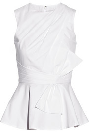 Prabal Gurung Draped cotton-poplin top