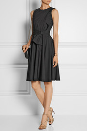 Prabal Gurung Draped cotton-poplin dress
