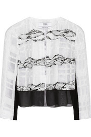 Prabal Gurung Cropped organza-tweed jacket