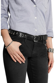 Karl Lagerfeld Studded leather belt