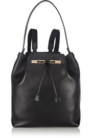 The Row Small leather backpack