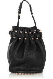 Diego textured-leather shoulder bag