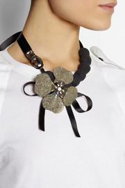 Marni+ V&A Swarovski crystal, horn and pyrite necklace