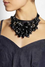 Marni+ V&A Swarovski crystal and resin necklace