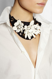 Marni + V&A Swarovski crystal and resin necklace