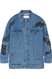 Julien David + Ambush embellished denim jacket