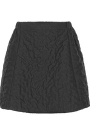 Julien David Textured-cotton mini skirt