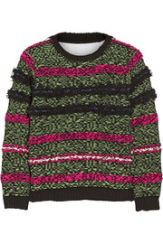 Julien David Textured wool-blend sweater