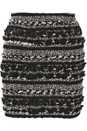 Julien David Bouclé and wool mini skirt