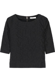 Julien David Textured-cotton top