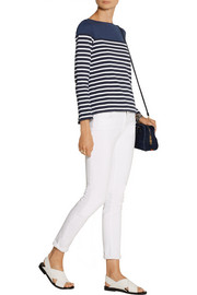 Sacai Sacai Luck striped cotton-jersey top