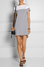 Sacai Sacai Luck striped cotton-jersey mini dress