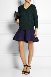 Sacai Sacai Luck wool and quilted felt mini dress