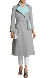 Sacai Sacai Luck belted wool-blend coat
