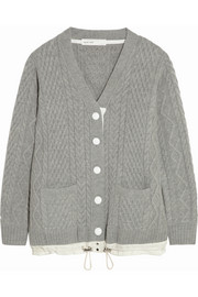 Sacai Sacai Luck cable-knit wool cardigan