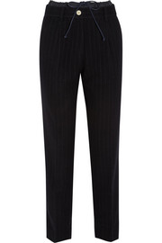 Sacai Sacai Luck pinstriped wool-blend tapered pants