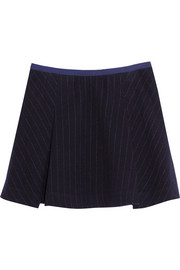 Sacai Sacai Luck pinstriped wool-blend mini skirt